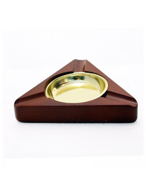 Rosewood Finish Cigar Ashtray 3 Person