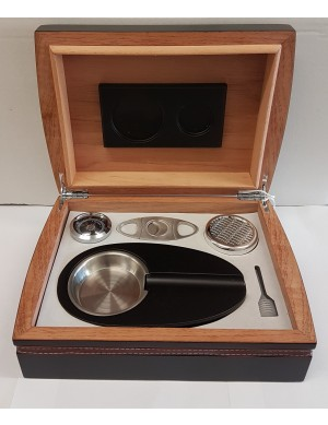 Cigar Humidor Gift Set