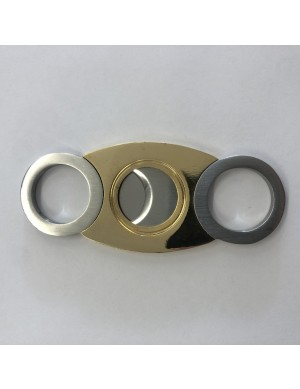 Smoker's Choice Cigar Cutter Stainless (Gold/Silver RND)
