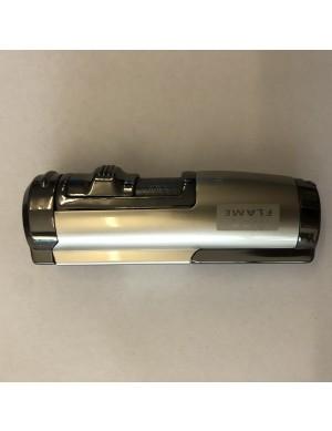 Hot Flame 2 Burner Cigar Lighter (Silver)