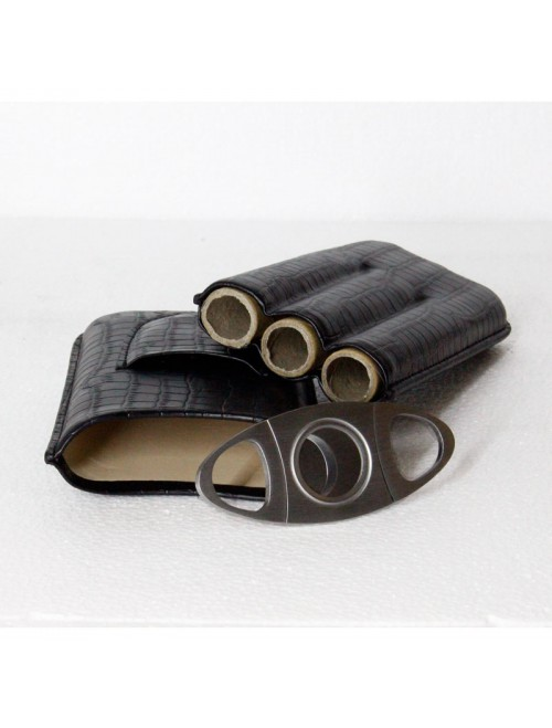 Travel Case Leather with Cutter