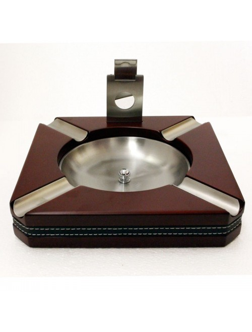 Large Cigar Ashtray 4 Person with Cutter